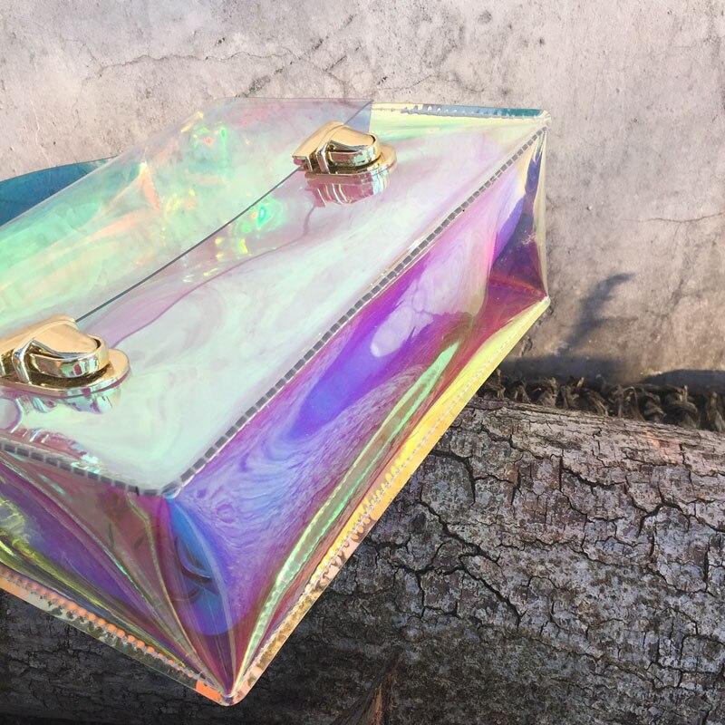bolsa transparente de pvc transparente Color : Hologram , clear