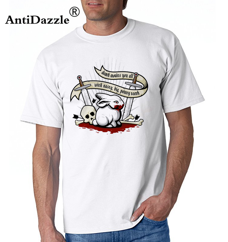 236e19848b6 Antidazzle designer t shirt Holy Grail Killer Rabbit Death Waiting for You  All Monty Python Knight Casual Tee Shirt-in T-Shirts from Men s Clothing on  ...
