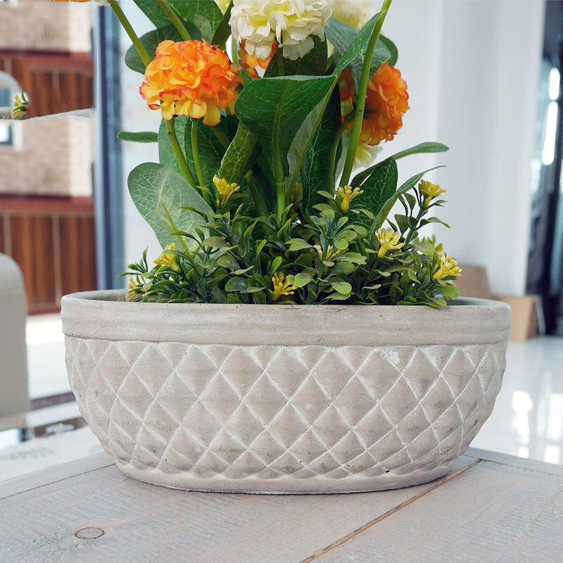 Silicone vaso di Fiori stampi vaso fioriera di cemento stampo FAI DA TE giardino planter muffa 2