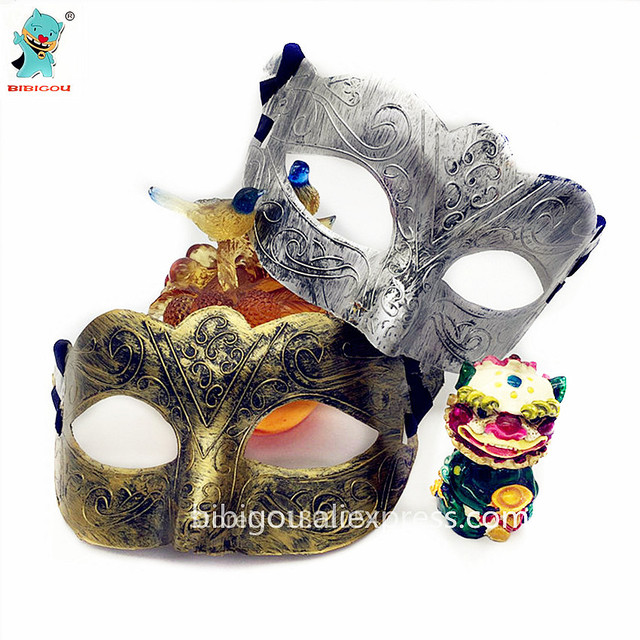 US $6 0  High Quality Party Mask Men Ancient Greek And Roman Warriors Half  Face Mask Golden And Silver Masquerade 4PCS-in Party Masks from Home &