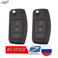 RIN 2PCS Lot 3 Buttons Remote Key For FORD Car Mondeo Focus Fiesta C Max S