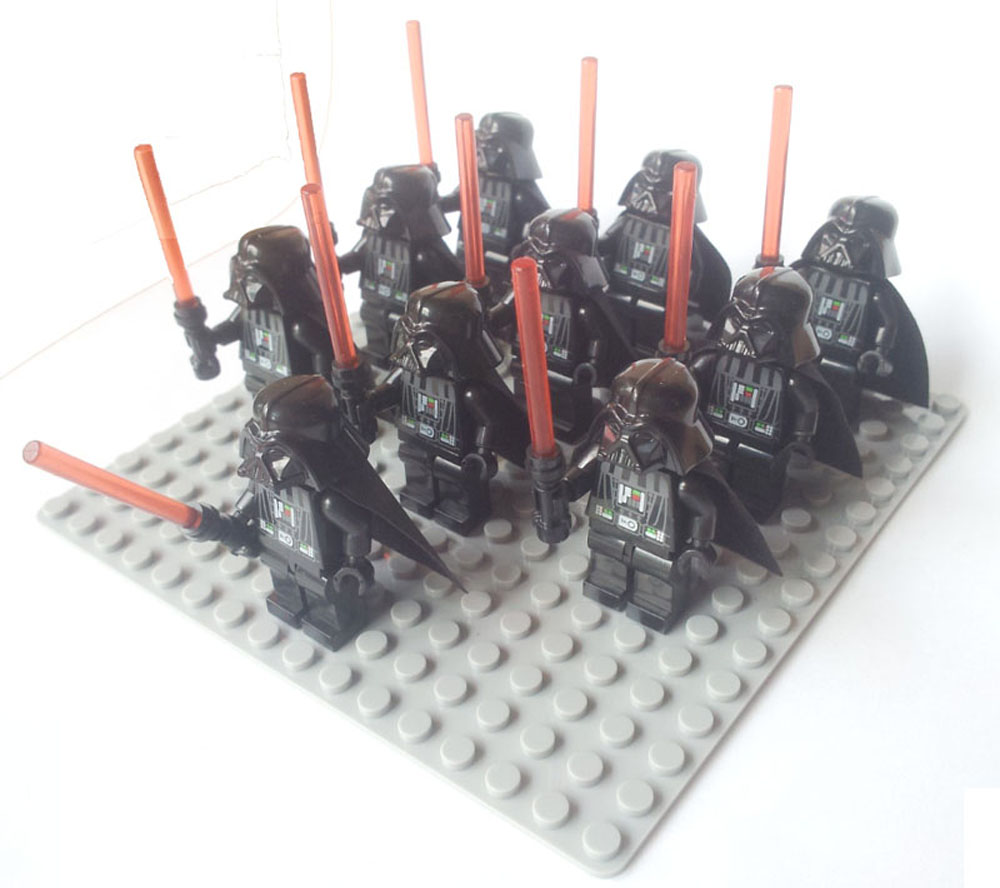 10pcs Star Wars Darth Vader with Lightsaber stormtrooper clone trooper Action Figure Toy Building Block 10cm nendoroid star wars toy the force awakens stormtrooper darth vader 501 502 pvc action figure star wars figure toys