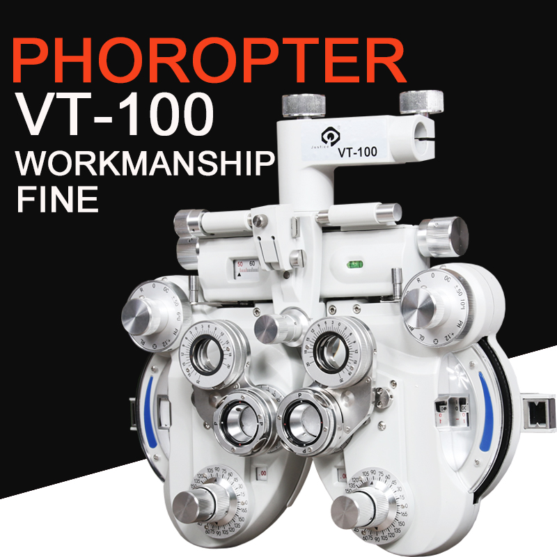 VT-100 Fair Quality Phoropter CE Certificated   Optical Vision Tester   Minus Cylinder Refractor Plus Cyl Phoroptor