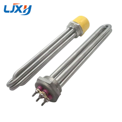 LJXH DN50 Water/Oil Heating Element Heater 304SS 220V/380V 6KW/9KW/12KW/15KW/18KW for Heat-conducting Oil Stove/Reaction Kettle