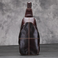 Men Chest Bag Genuine Leather Luxury Designer Men S Bags High Quality Travel Casual Male Bag