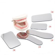 5 pièces dentaire orthodontique Double face miroirs réflecteur dentisterie intra-oral verre enduit titane photographie dentaire miroirs(China)