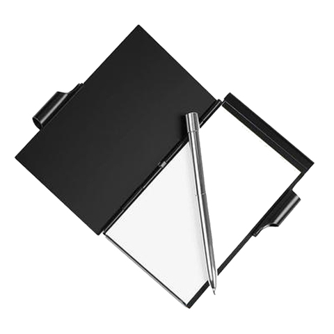 notebook de aluminio metal mini bloco