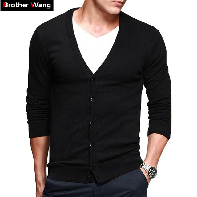 Knit male the new men's cultivate one's morality cotton cardigan leisure fashion men's wear thin sweater big yard