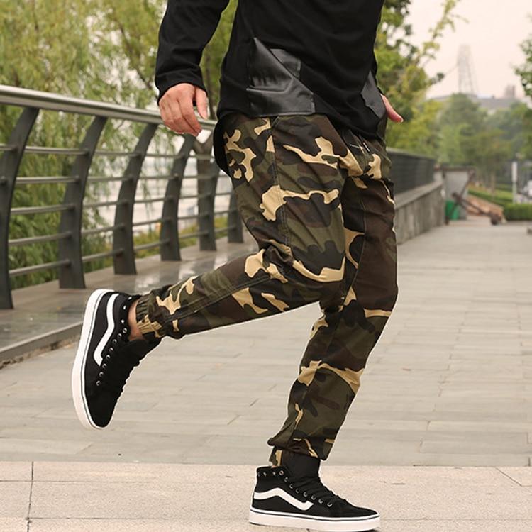 8XL 6XL Топы в стиле хип-хоп Для мужчин с Jogger осенние узкие штаны-шаровары Для мужчин камуфляж Военная свободные удобные брюки Камо джоггеры