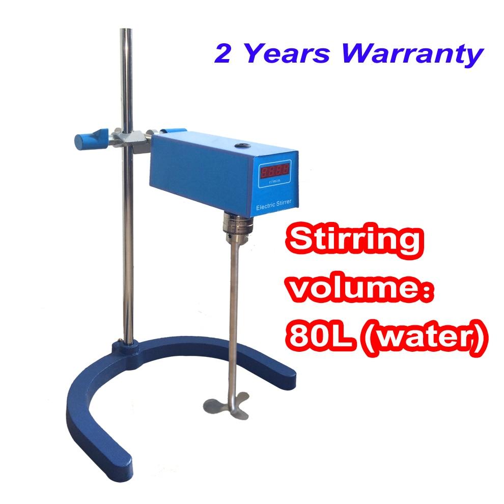 Free shipping, Stirring Volume max 80L Laboratory overhead stirrer free shipping ptfe stir rod for overhead stirrer