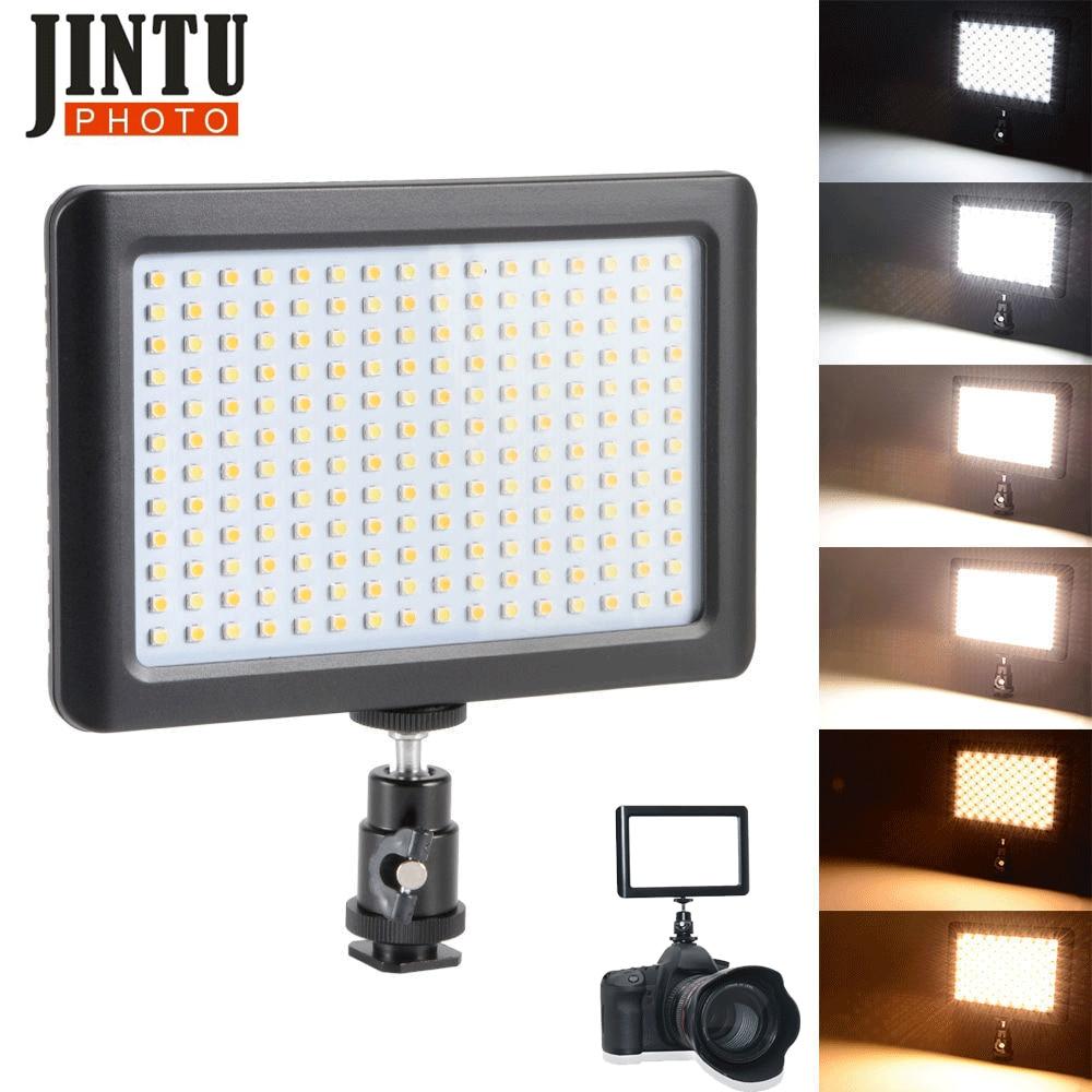 JinTu Pad 192 3200K-6000k Color Temperature LED Video Light For Canon 650D 750D 800D 70D 80D Nikon D5500 D5400 D3400 D3300 D750