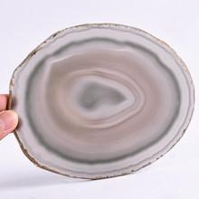 Super Big Natural Agate Slice Gems Crafts Stone Onyx Pad Coaster Cup Mug Glass Hot Beverage Holder Mat Decorative Plates
