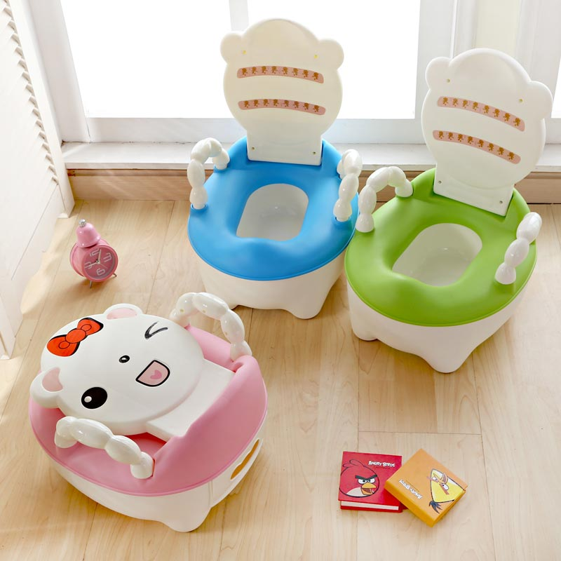 Good Selling Cute Cartoon Baby Toilet Training Plastic Kids Potty Cheap Potty Chair