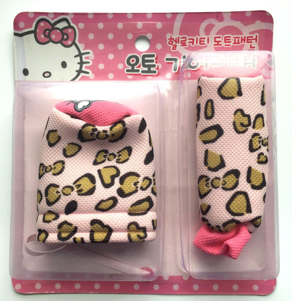 Hello kitty styling car accessories car interior gears covers safe belt covers hello kitty car