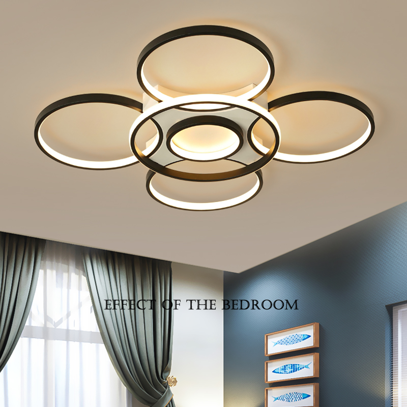 2019 Hot Sale Modern Led Chandelier For Living Room Bed Foyer Dimmable Lights Surface Mounted 10