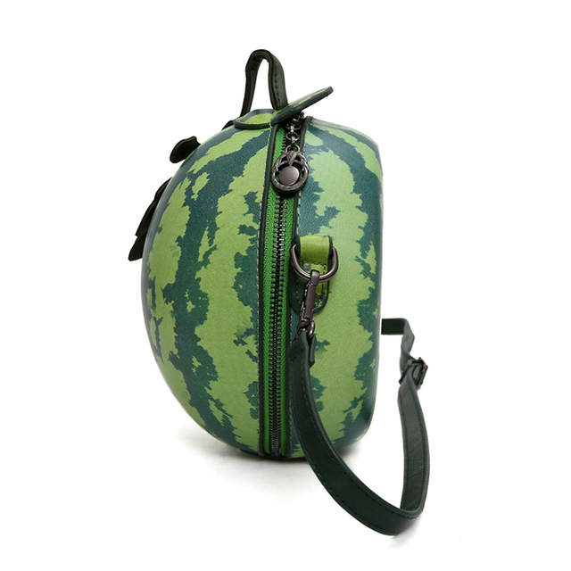 50066f9396 placeholder Women Messenger Bags fashion Green watermelon shape personality  Mini Girl Party Bag Gift Leaves Luxury Brand