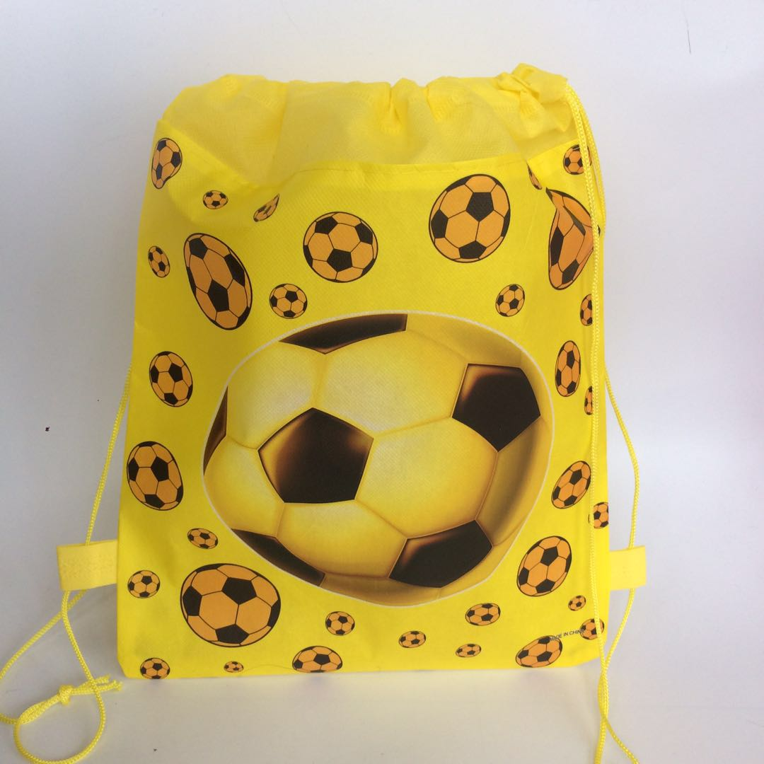 children's footballi printed backpack for kids school bag for boys and girls bag pouch for shoes birthday party bags supplies zoo animal sweetheart backpack toddler pouch non woven string shoe shourlder school bag for boy and girls birthday party gift
