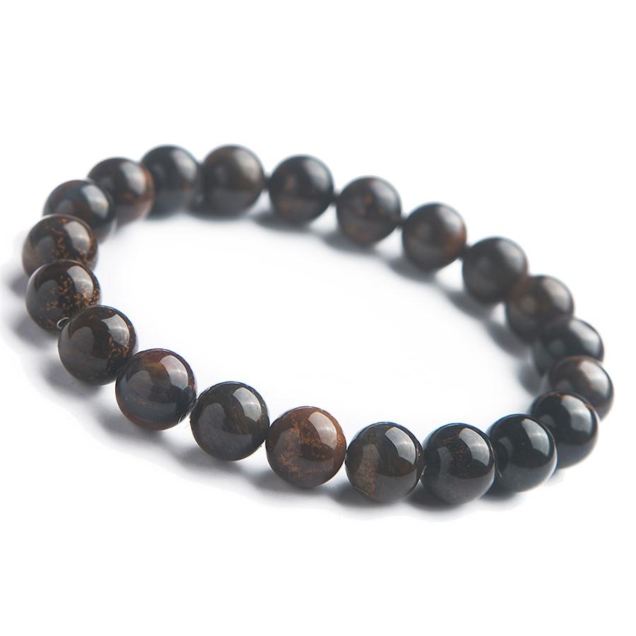 Véritables pierres précieuses naturelles Pietersite pierre cristal extensible puissant Bracelet de perles rondes 9mm