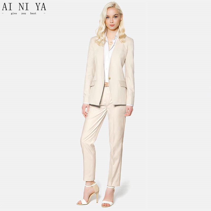 Women Pant Suits New Fashion 2019 Formal Women Trouser Suit One Button Ladies Business Suits Female Work Wear Suits Custom Made