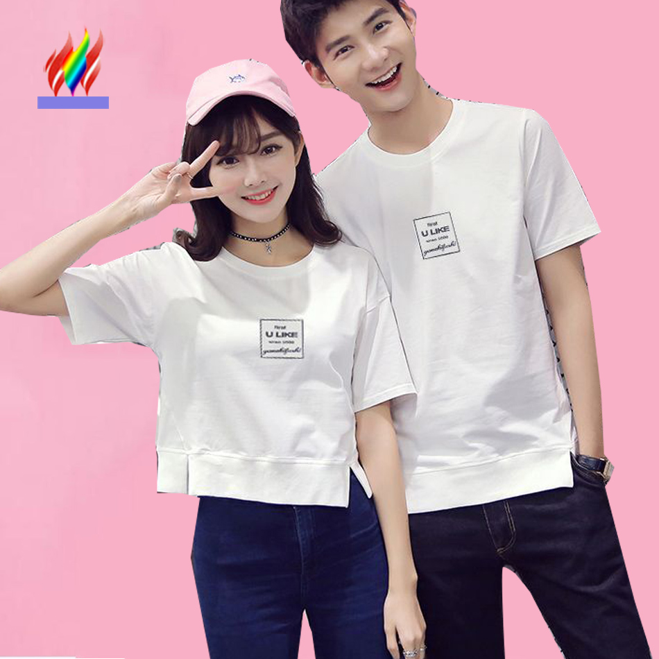 Couples T Shirt For Lovers Clothing Summer Short Sleeve ...