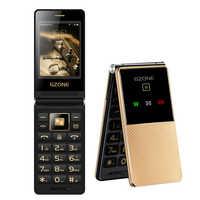 "Dual Display 2.8"" Handwriting Flip Senior Mobile Phone Fast Dial Extra Slim Light Big Russian Key Black List Cheap Price No FM"