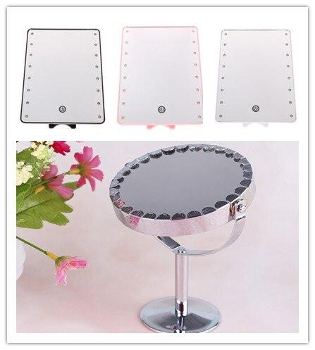 2 Stile Professionelle Led Touchscreen Make-up Spiegel Luxus Spiegel Mit 16 Led-leuchten 180 Grad Verstellbaren Tisch Machen Up Spiegel Schönheit & Gesundheit