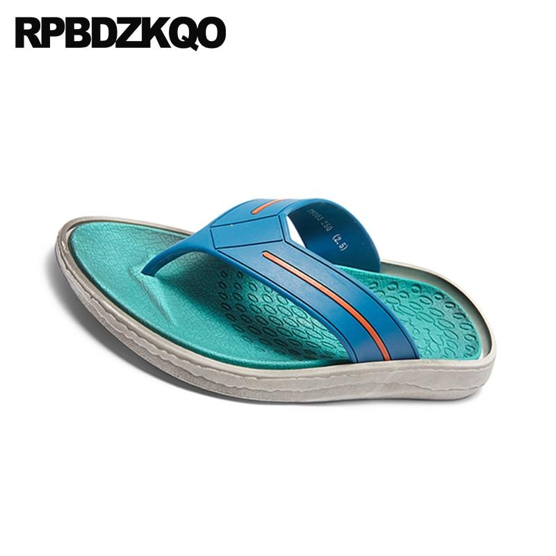 Sandálias Em De azul Ao Praia Casual Slides Homens Preto Escorregar Chinelos Moda Dedo 2018 Chinelo verde Agua Sapatos Verão Desenhista Verde Dos Livre Plano Ar branco Suave ZSzrqnxSw6