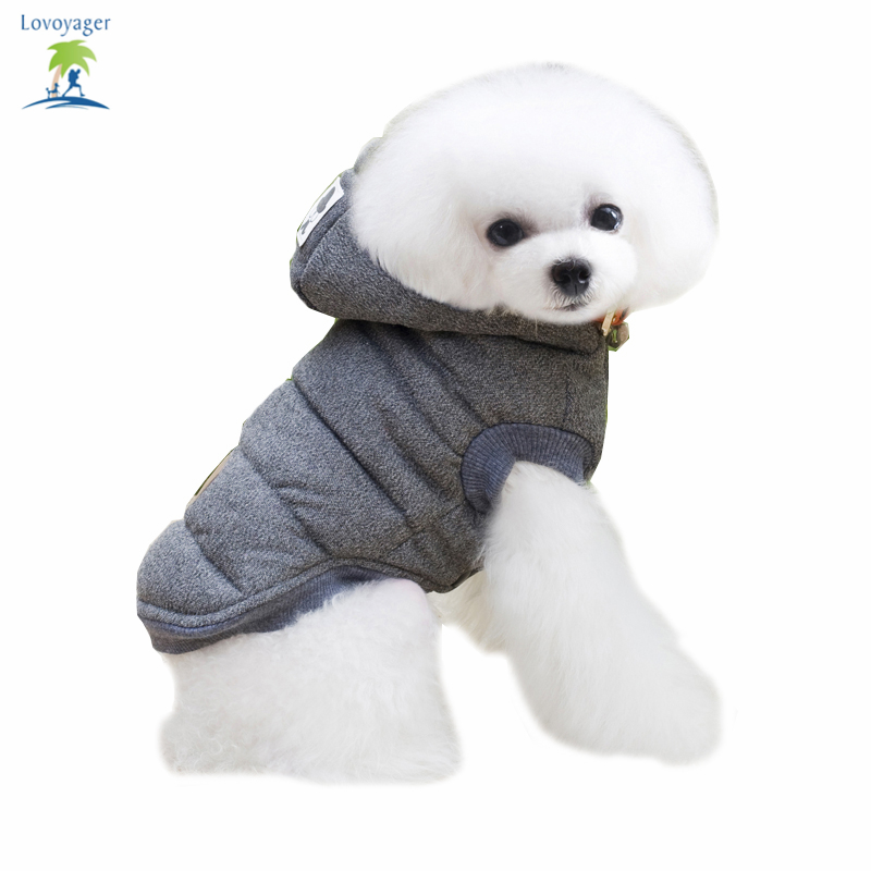 Fashion Pet Clothing Dog Coats Cotton Jackets Winter Clothes Thick Warm fleece hoodie Puppy outfit