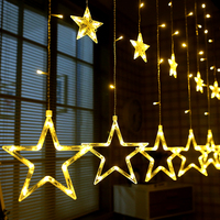 2M 8 Modes Romantic Fairy Star LED Curtain String Lights 220V Holiday Lighting Christmas Wedding Party