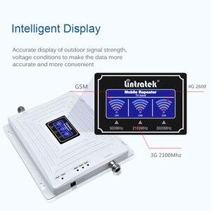 Image 2 - Lintratek repetidor 2g 3g 4g gsm signal booster 900 2100 2600 4g amplificador banda tri ampli repetidor 3g 4g 2600 gsm 900 KW20C GWL@6.1