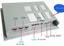 touch screen 12 inch all in one Fanless mini industrial panel pc support windows xp / windows7 system