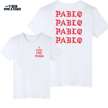 2017 New Fashion Casual T-Shirts Women Fear Of God I Feel Like Paul Pablo Men Shirt Kanye West Cotton Male tee Shirt ONE A CAKE