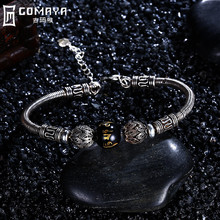 GOMAYA 925 Sterling Silver Bracelets Beads Charms Bangles for Women Luxury Fine Jewelry Gift Classic European Vintage Pulseras