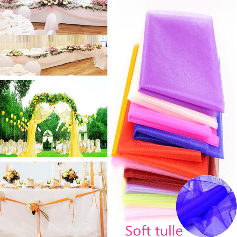 48cmx5m Tulle Roll Wedding Backdrop Wedding Decoration
