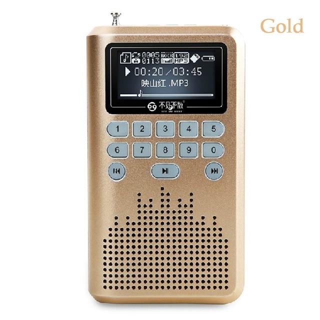 LV290 FM Radio Mini Portable Card Small Speaker Walkman Audio Mp3 Player