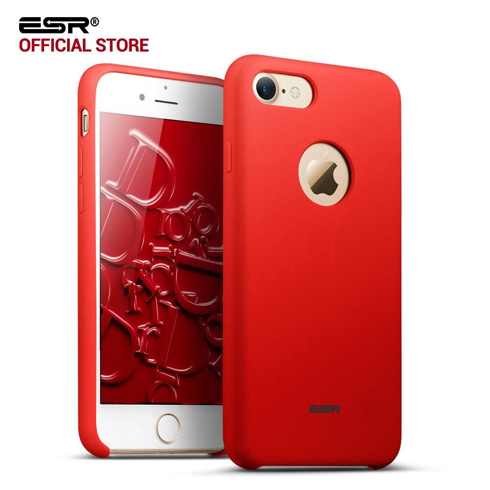 imágenes para Caso para el iphone 7, ESR Funda de Silicona Protección Gota Slim Fit Sedoso Suave al tacto Caso Cáscara de La Cubierta Protectora para el iphone 7 de 4.7 pulgadas