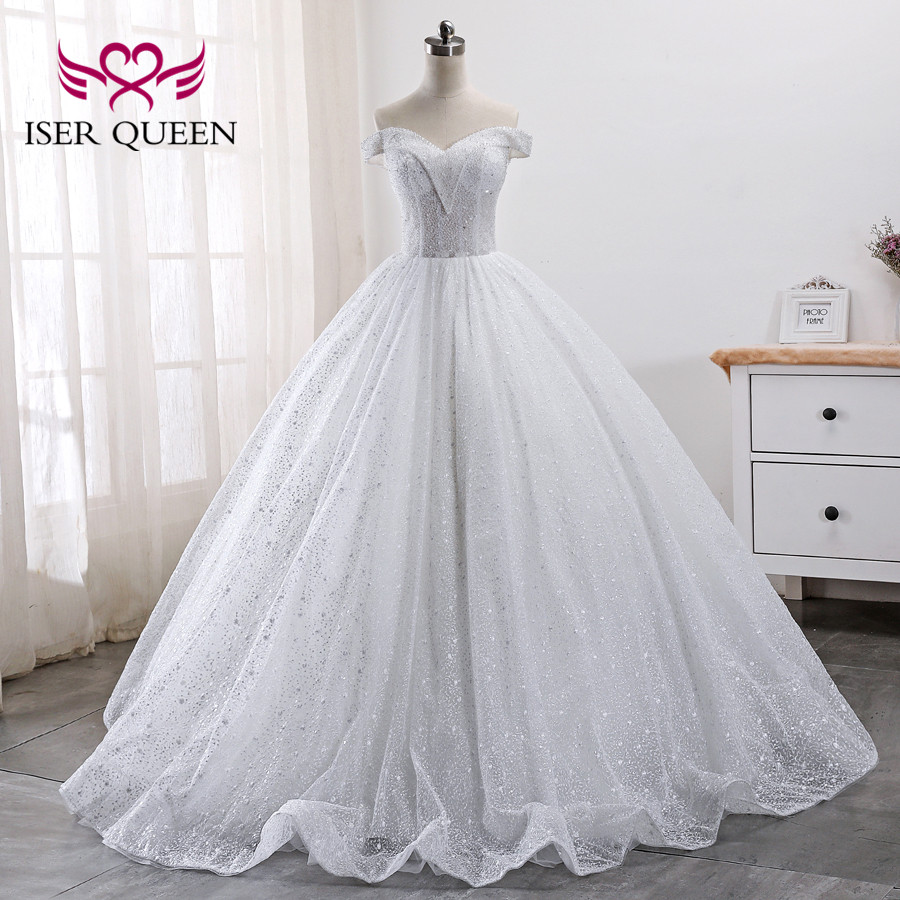 Heavy Crystal Beading Luxury Dubai Wedding Dress 2019 Ball Gown Cap Sleeve Wedding Gowns Plus Size Wedding Dresses WX0010