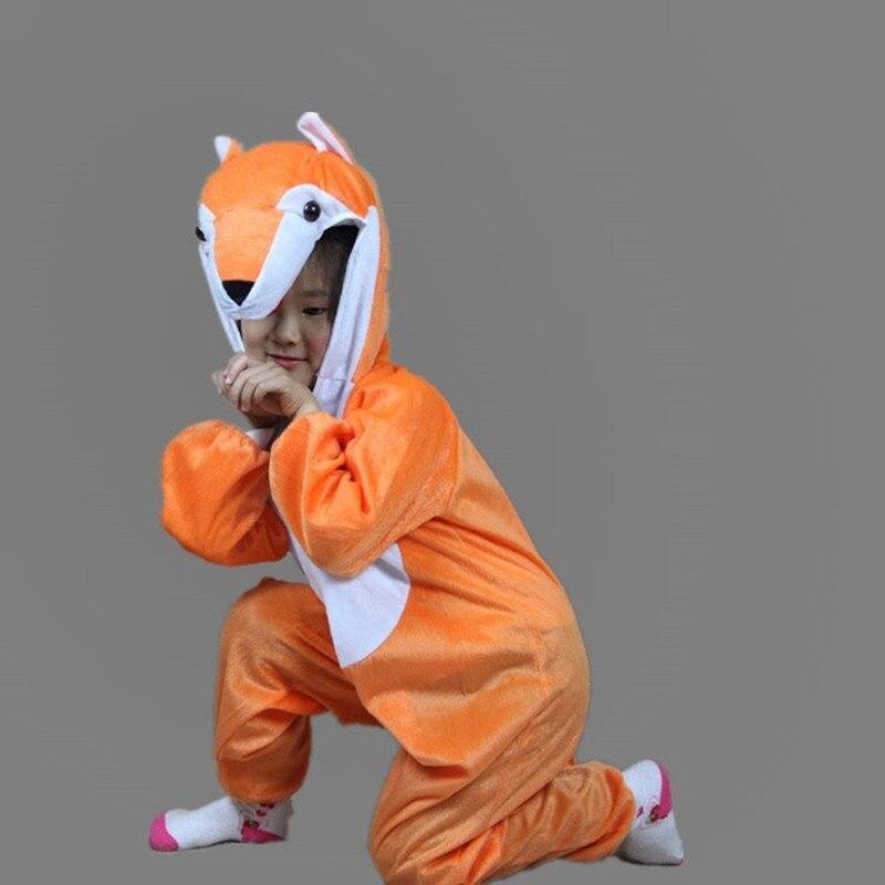 Halloween Boy Girl Cartoon Children Kids Animal fox Jumpsuit Costume Cosplay Clothing  Animals Costumes