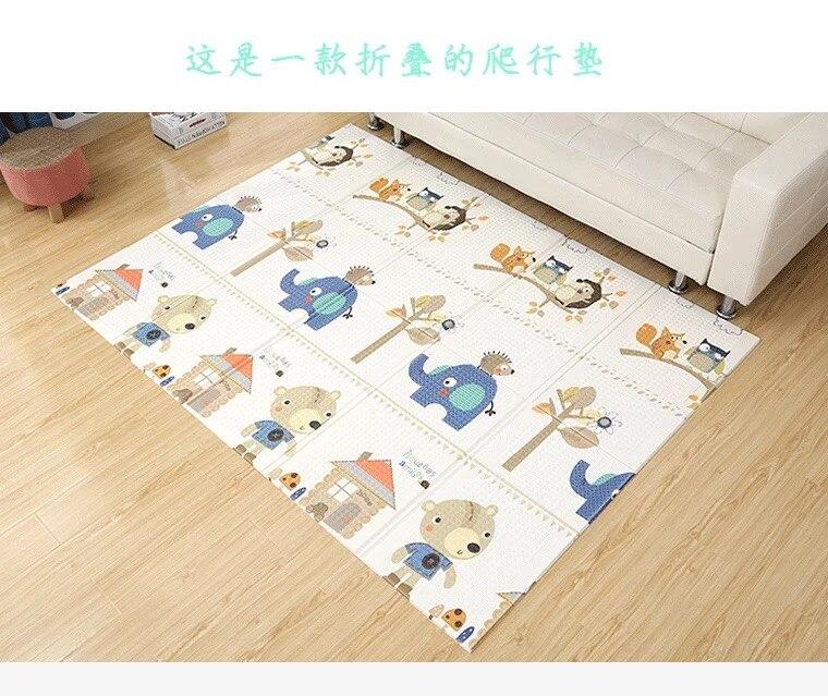 1 CM épaisseur tapis de jeu pliable bébé tapis de jeu 200*180 CM grand enfant ramper tapis Puzzle couverture tapis de jeu
