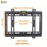 Универсальный Фиксированный ТВ настенный кронштейн закрепленная плоская панель ТВ подставка держатель рамка для 14-32 дюймовый плазменный т...