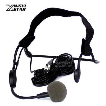 10PCS/LOT WH20TQG Mini XLR 4 Pin TA4F Headset Headworn Microphone Dynamic Mic For SHURE Wireless Beltpack Transmitter PGX4 SLX1
