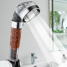Flower Sprinkler Hydrotherapy Pressurized Water-saving Shower Handheld Negative Ion Bathroom Head