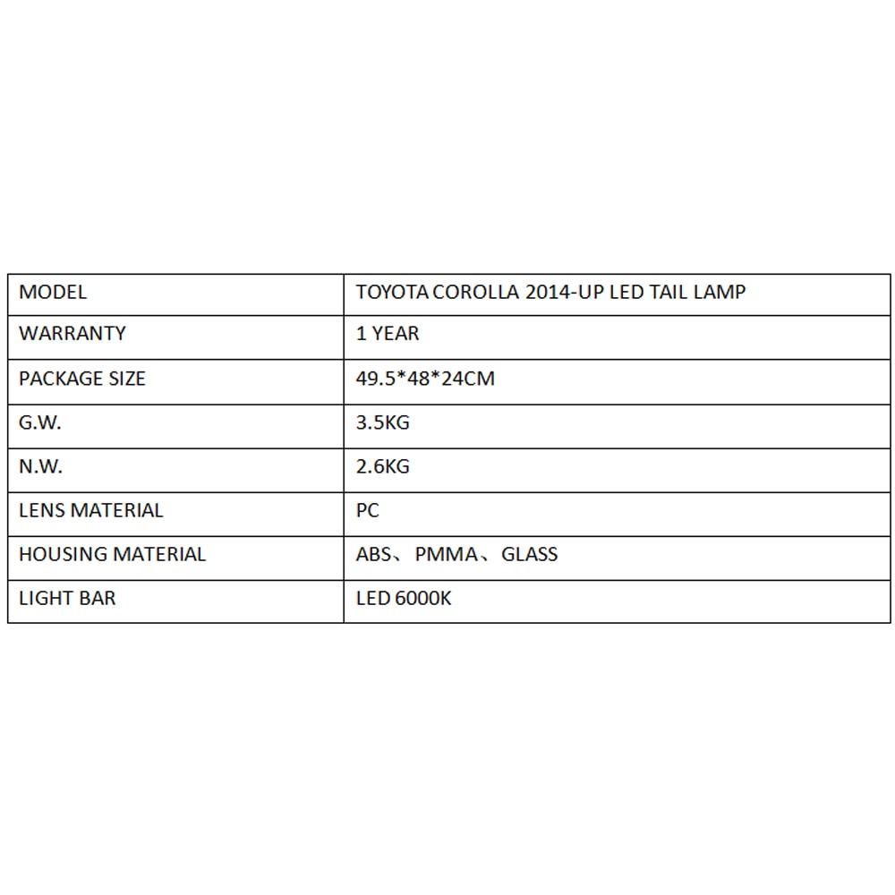 Image 5 - Lslight для Corolla 2014 2015 2016 2017 2018 2019 светодиодный задний блок освещения лампочка габаритов ходовые огни стоп сигнал поворота-in Фара для авто в сборе from Автомобили и мотоциклы