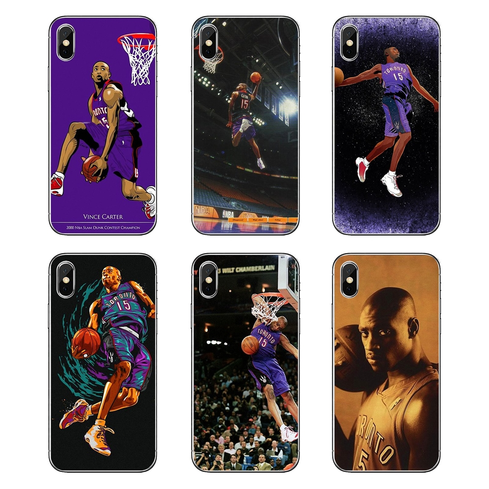 Cover-Bag Slam Basketball Por Pocophone F1 Vince Carter Xiaomi Redmi Transparent Note-3