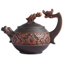 Neue 330CC Zisha Drachen Teekanne Erz Lila Ton Chinesische Kung Fu Teekanne Wasserkocher Kreative Gefäße 2 Farbe