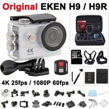 Câmera ação Original EKEN H9/H9R Remoto Ultra HD 4 K Wi-fi 1080 p 60fps 2.0 lcd 170d esporte câmera à prova d' água gopro hero 4 estilo