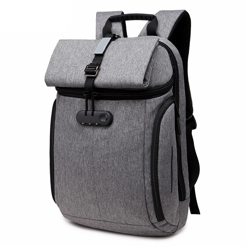 Fashion Anti Theft Password lock Zaino Uomini Riflettenti Back Pack Viaggio bagpack Borse per notebook per uomo Notebook Bagpack
