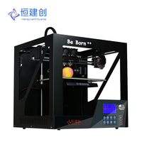 Be Born E2 High Precision Full Metal Frame 3D Printer kit MK9 Extruder Double Nozzle With Temperature Resistant Glass 3D Printer