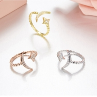 Band Classic Women Wedding Jewelry High Quality 925 Sterling Silver Colors CZ Star And Moon Engagement