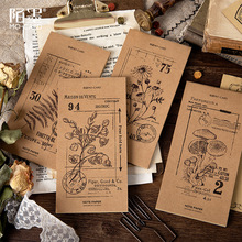30P Vintage Kraft Paper Memo Pad Retro Office Decoration To Do List Planner Creative DIY Bullet Journal Stationery Supplies a5 journal refills notebook filler paper narrow ruled 2017 planner to do list office supplies stationery 45 sheets